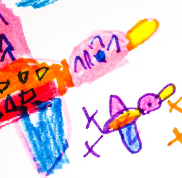 A duck drawing by a preschool student at Kirk Preschool Bloomfield Hills Michigan